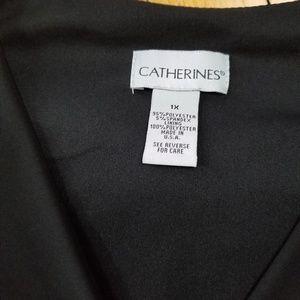 Catherines Dresses - Catherine's short sleeve v neck black dress